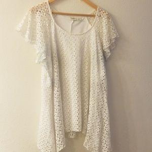 Cato woman white lace tunic